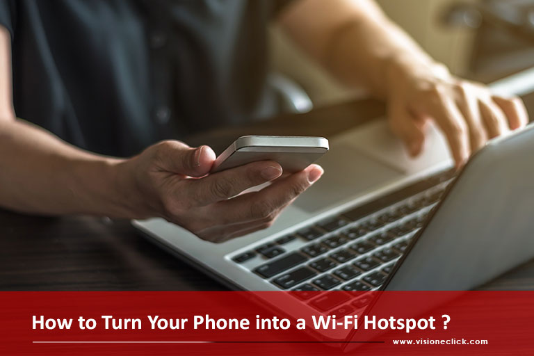 smart phone into wi-fi hotspot