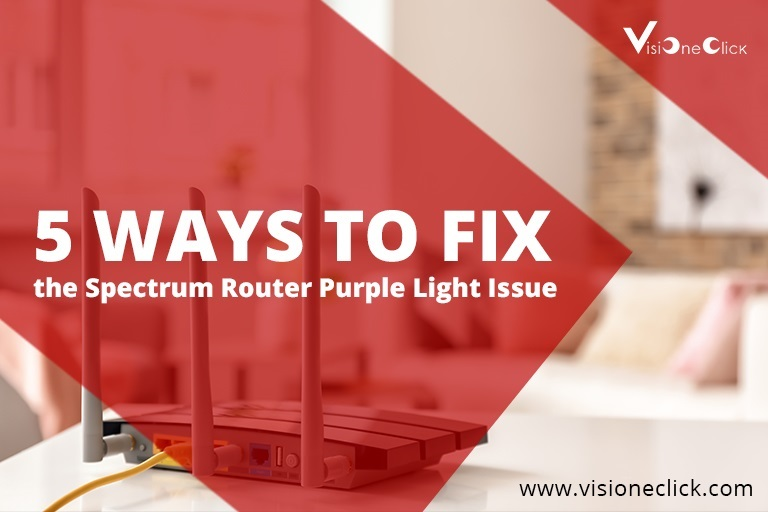 how to fix Spectrum router purple light issue